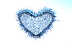 Icy cold heart Royalty Free Stock Images