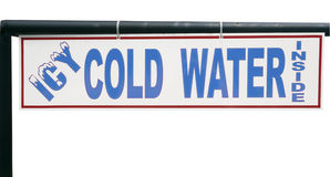 ICY COLD WATER Sign Royalty Free Stock Image
