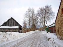Icy country road Stock Photography