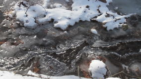 Icy Creek with Running Water and sound stock video