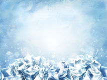 Icy cube background Royalty Free Stock Photos