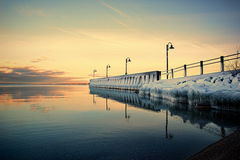 Icy Dock in the Sunset Stock Photography