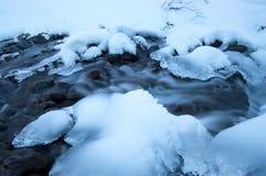 Icy flod Royaltyfri Fotografi