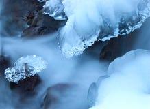 Icy flod royaltyfria bilder