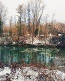 icy flod Arkivfoton