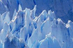 Icy formations of Perito Moreno Glacier at Canal de Tempanos in Parque Nacional Las Glaciares near El Calafate, Patagonia, Argenti Stock Photos