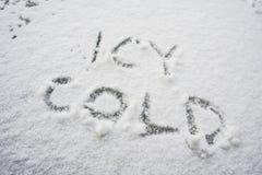 Icy förkylning Arkivbilder