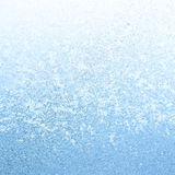 Icy Frost on winter morning. Frosty winter background photo of ice buildup on a window Royalty Free Stock Photo