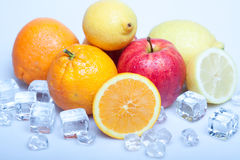 Icy Fruits Stock Photography
