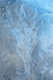 Icy glass window Royalty Free Stock Photography