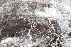 Icy ground Stock Photo