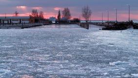 Icy hamn Royaltyfri Fotografi