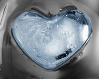 Icy heart Stock Images
