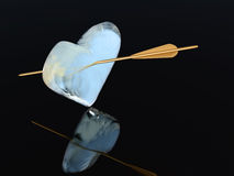 Icy heart Royalty Free Stock Image