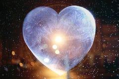 Icy heart valentine Stock Photos