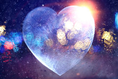 Icy heart valentine Stock Images