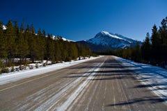 icy huvudväg royaltyfri bild