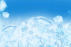 Icy Ice Background. Cool Frozen Water Illustration. Great As Background for Cold Drinks Sale, Ice Creams and more! Cool Blue Ice Cubes Background Royalty Free Stock Photo