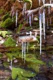 icy klippa Royaltyfria Bilder
