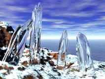 icy kristaller royaltyfri illustrationer