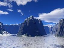 Icy lake Royalty Free Stock Image
