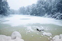 Icy lake Royalty Free Stock Images