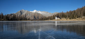 Icy lake Stock Images