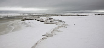 Icy Lake Superior. Lake Superior as it begins to freeze in winter Royalty Free Stock Photos