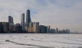 Icy Lakefront Stock Image