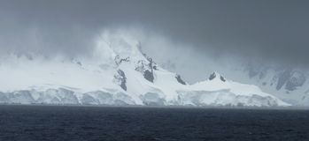 Icy landscape in Antarctica Stock Photo