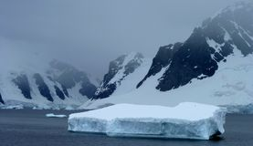 Icy landscape in Antarctica Stock Photography