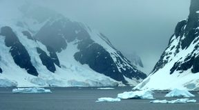 Icy landscape in Antarctica Royalty Free Stock Photo
