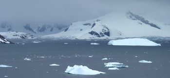 Icy landscape in Antarctica Stock Image