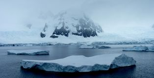 Icy Landscape In Antarctica Stock Photo