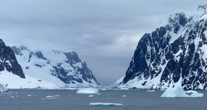 Icy Landscape In Antarctica Royalty Free Stock Image