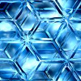 Icy lattice. Blue ice, lattice, patterns, texture suits for duplication of the background Royalty Free Stock Photo