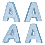 Icy letter A. Stock Image