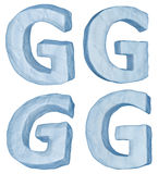 Icy letter G. Stock Image