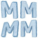 Icy letter M. Royalty Free Stock Photography