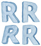 Icy letter R. Stock Photography