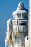 Icy lighthouse details Royalty Free Stock Image