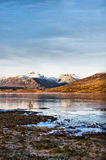 Icy Loch Scotland Stock Photo