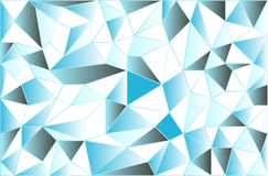 Icy low poly polygonal triangular icy abstract background. Vector Royalty Free Stock Photos