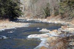 Icy Loyalsock Creek Stock Photo