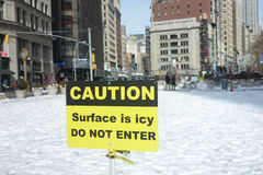 Icy Madison Square Park Royalty Free Stock Photography