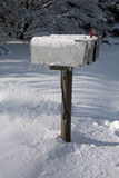 Icy Mailboxes Stock Photos