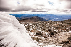 Icy Mount Washington. Point of view from the summit of Mount Washington, New Hampshire. Get real print at www.sydstudios.com Stock Images