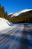 Icy Mountain Road Royalty Free Stock Images