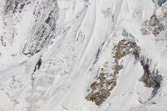 Icy Mountain Slope, Karakorum, Pakistan Royalty Free Stock Photo