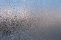 Icy pattern on glass Royalty Free Stock Photography